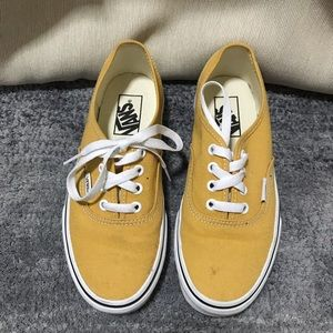Vans yellow authentic sneakers size 6.5